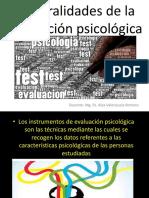 Generalidades de La Evaluacion Psicologica