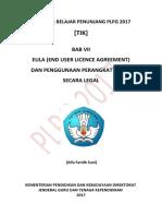 Bab Vii Eula End User Licence Agreement Dan Penggunaan Perangkat Lunak Secara Legal