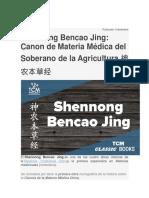 Canon de Materia Medica Del Soberano de La Agricultura