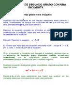 m1 - Material Semana 4 Ecuaciones de Segundo Grado Con Una Incognita