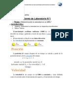 LABORATORIO FÍSICA MRU