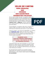 Modelos de Cartas para imigração