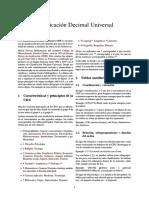 Clasificación Decimal Universal