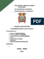 Contaminación Del Lago Titicaca
