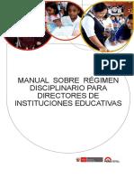 1. MANUAL SOBRE RÉGIMEN  DISCIPLINARIO PARA DIRECTORES DE  INSTITUCIONES EDUCATIVAS.pdf