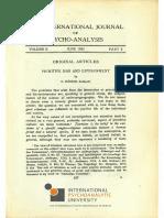 RÓHEIM, G. STÄRCKE, A., FREUD, S. (Hg.).. the International Journal of Psycho-Analysis II 1921 Part 2