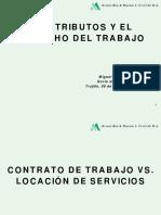 Los Tributos y El Derecho de Trabajo