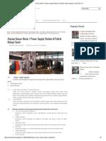Stasiun Kamar Mesin _ Power Supply Station Di Pabrik Kelapa Sawit _ Crude Palm Oil