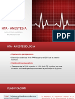 Hta - Anestesia