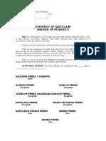 Aff of Quitclaim