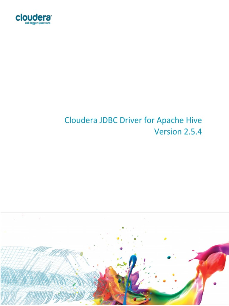 Cloudera JDBC Driver for Apache Hive Install Guide 2 5 4
