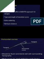 Design of Horizontal Alignment & Super Elevation