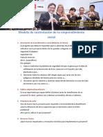 Modelo de sustentación de emprendimiento social escolar