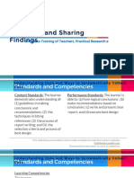 reporting and sharing findings