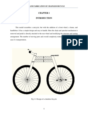 DESIGN AND FABRICATION OF CHAINLESS BICYCLE | Human Powered