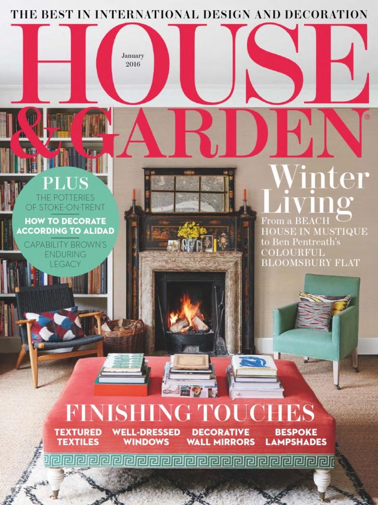 01 House Garden January 2016 с Vogue Magazine