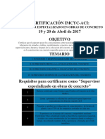 Requisitos Certificacion Supervisor