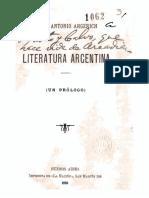 Juan Antonio Argerich - Literatura Argentina - Juan Antonio Argerich