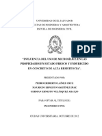 Influencia Del Uso de La Microsílice en Las Propiedades en Estado Fresco y Endurecido en Concreto de Alta Resistencia.pd