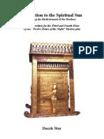 Egyptian Amduat, Dedication to the Spiritual Sun
