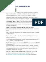 Cómo Reproducir Archivos WLMP