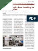 Spectroscopic Data Handling at Petabyte Scale