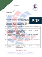 Acta de Entrega con relación al contrato de compraventa No. 206 de 2016