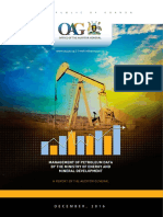 Auditor General's report on the management of petroleum data by Uganda's Ministry of Energy and Mineral Development