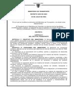 Decreto 2053 de 2003 Estructura MinTransporte