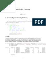 mini project clustering
