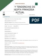 Textos y Tendencias de La Filosofía Francesa Actual