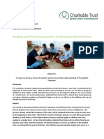 2017 - 05 May GVI Dawasamu Achievement Report - Reading Assessments (3)