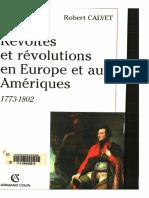 Calvet - Révoltes Et Révolutions en Europe Et Aux Amériques