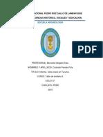 Informe Del Algodon Nativo
