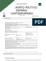Pensamiento Político Español Contemporáneo