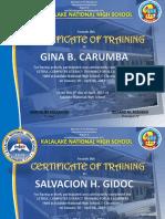 Certificate LetraC