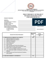 Progress Monitoring Form for    SFS,DED and Procurement_Water.xlsx