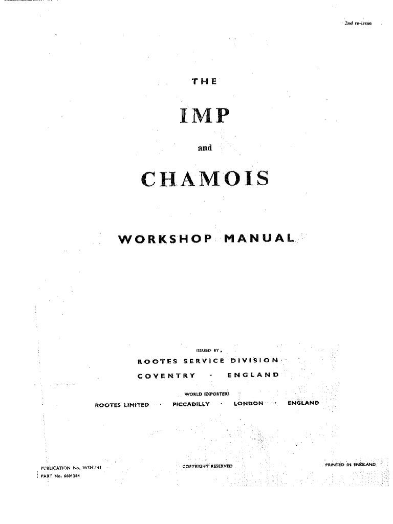 IMP Workshop Manual | Bearing (Mechanical) | Steering