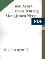 Satuan Acara Penyuluhan Tentang Manajemen Nyeri