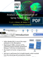 Chicago Analysis and Optimization of Spray Tower of Wfgd