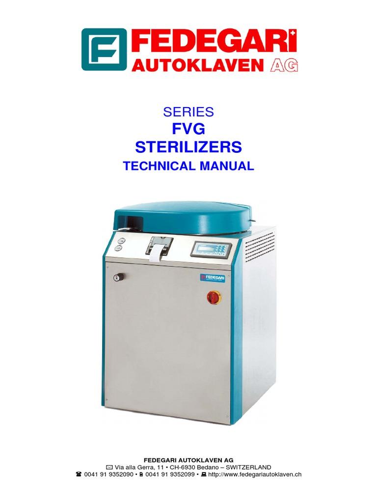 Altezza Posizionamento Split fedegari autoclaaf technical manual   valve   boiler
