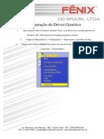 Configuração Do Driver Genérico WinXP