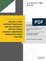 PMI-ACP Course Catalogue