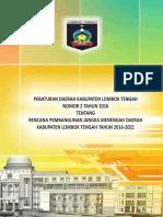 Rpjmd Lombok Tengah 2016_2021