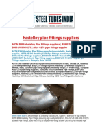 Hastelloy Pipe Fittings Suppliers