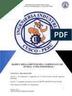 Bases Campeonato de Futsal