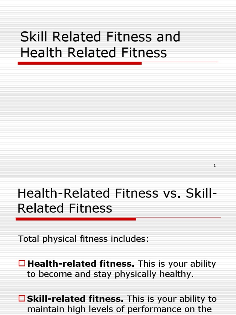 U1P2 Health and Skill Related Fitness PPT | Balance ...