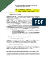 Esquema de La Normativa Internacional y Europea de Alimentos