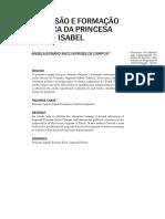 A DIMENSÃO E FORMAÇÃO POLÍTICA DA PRINCESA ISABEL