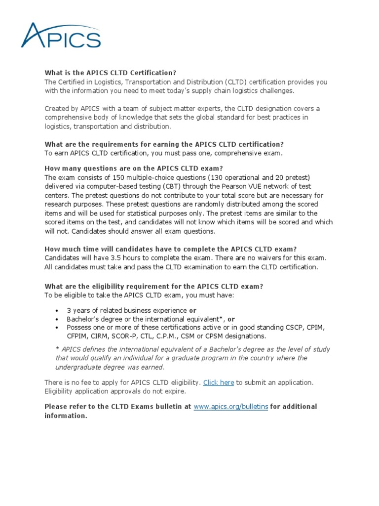 Cltd faqs professional certification test assessment 1betcityfo Images